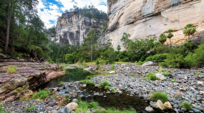 guided walking holidays Carnarvon Gorge to Whitsunday Coast